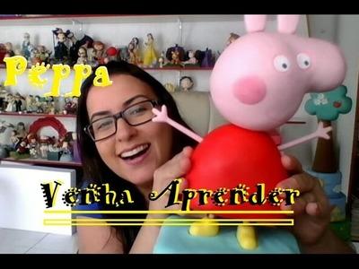DIY - Peppa para decoração de festa - Raquel Fontinele