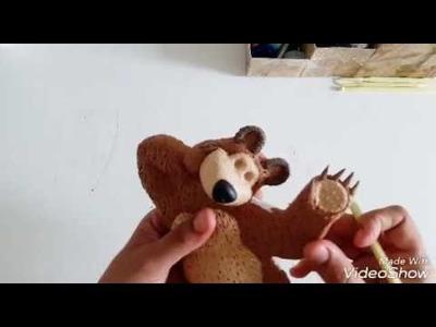 Masha e o Urso Parte2 passo a passo em biscuit
