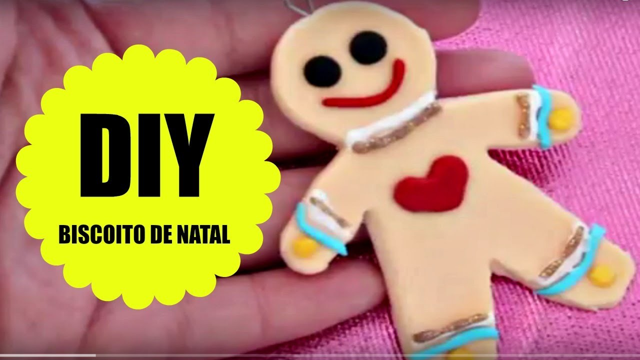 TUTORIAL BISCOITO DE NATAL - BISCUIT - POLYMER CLAY - PASSO A PASSO