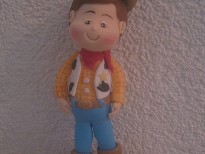 Woody personagem do Toy Story - Biscuit. Porcelana Fria by Clau Schroeder