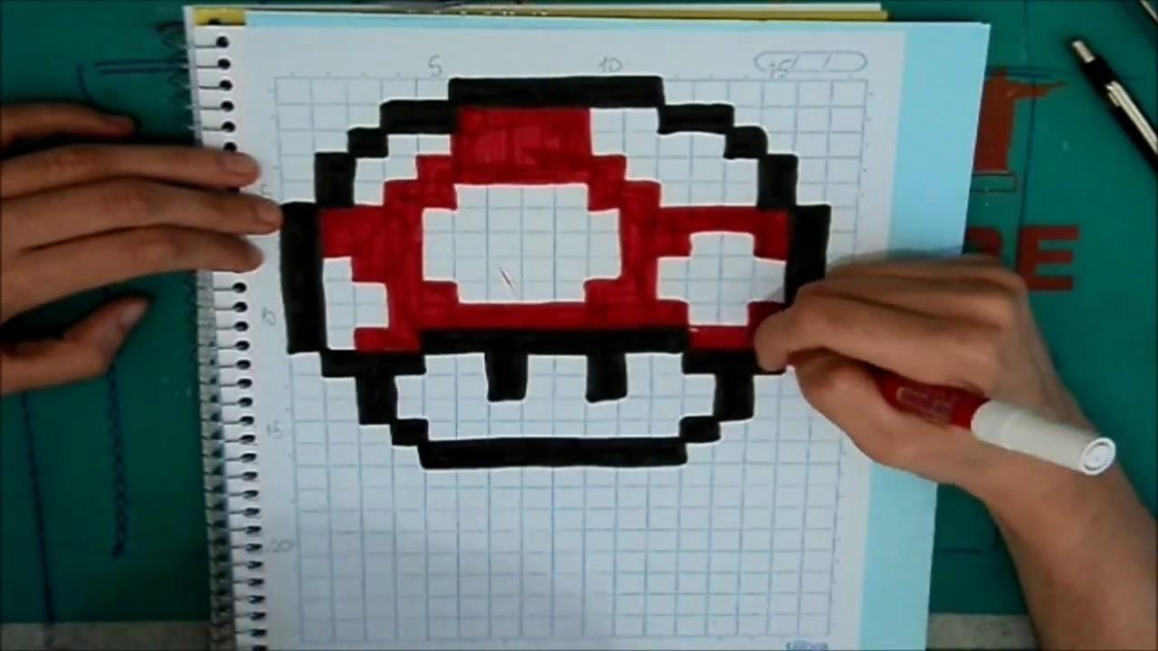 Desenhando um cogumelo vermelho - Pixel Art