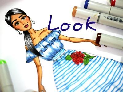 Desenho de Moda - Blusa Ombro a Ombro