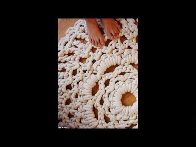 Incrivel tapete de crochê com corda