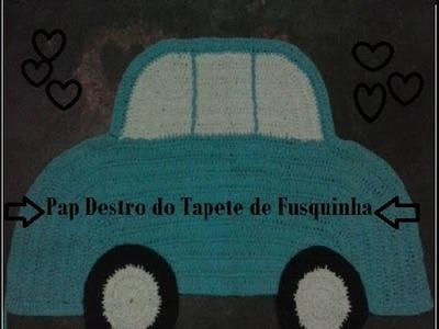 Pap Destro - Tapete Fusquinha de Crochê - Maricelia Cardoso
