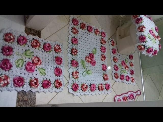 Tapete da Pia - Jogo de Banheiro Florido com Cristina Coelho Alves