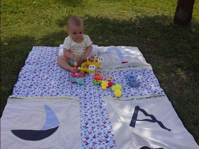 Tapete infantil em Patchwork - Tapete de atividades