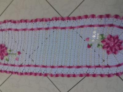 Trilho.Centro.Toalha Caminho de Mesa ou Tapete em Crochê com Cristina Coelho Alves