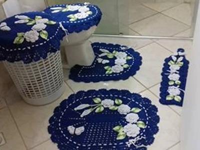 Vamos aprender a fazer este tapete da pia que acompanha o jogo de banheiro