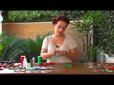 Aprenda fazer móbiles natalinos com CDs