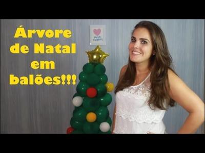 Árvore de Balões no Tema Natal | Passo a Passo