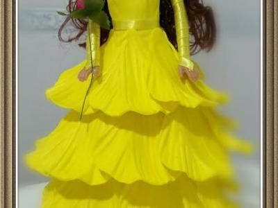 Como Fazer um vestido para bonecas Barbie 01