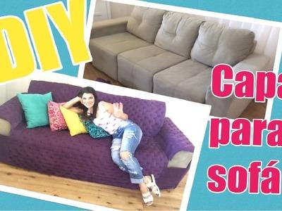 DIY - Como fazer uma Capa de sofá