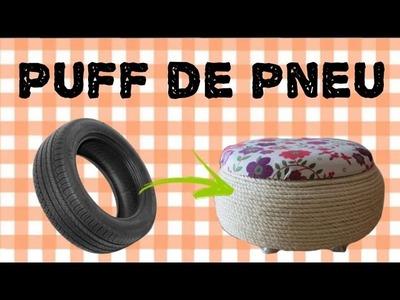 DIY: Faça um lindo puff de pneu!
