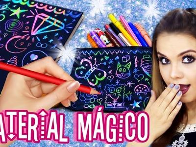 DIY MATERIAL ESCOLAR MÁGICO QUE MUDA DE COR! | DIY SCHOOL SUPPLIES | Camilla Amaral
