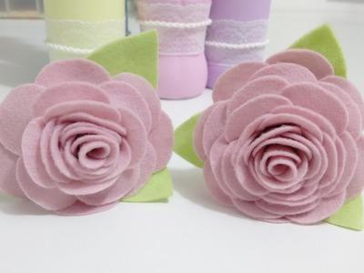 Flores de feltro - Passo a passo | Lisandra Monteiro
