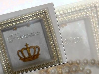 Porta Maternidade Iluminado Princesa Coroa Real   Mandaluhz