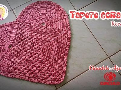 Tapete Coração em Crochê (reedição) by Claudete Azevedo