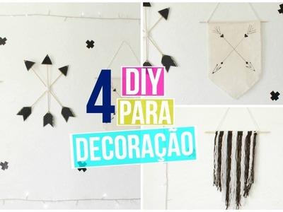4 Diy decoração de quarto (Decor Pinterest e Tumblr Inspired) | #8em1
