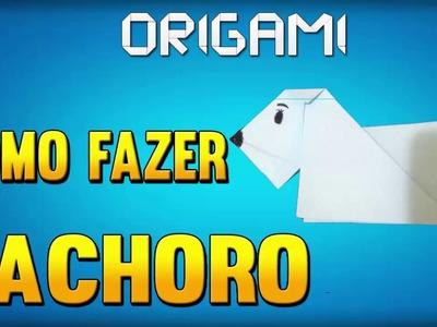 Como fazer um CACHORRO de Origami - Passo a Passo -  Folding dog Paper