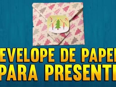 Como fazer um ENVELOPE DE PAPEL PARA PRESENTE de Origami - Passo a Passo