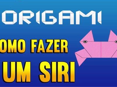 Como fazer um SIRI de Origami - PASSO A PASSO - Paper folding crab