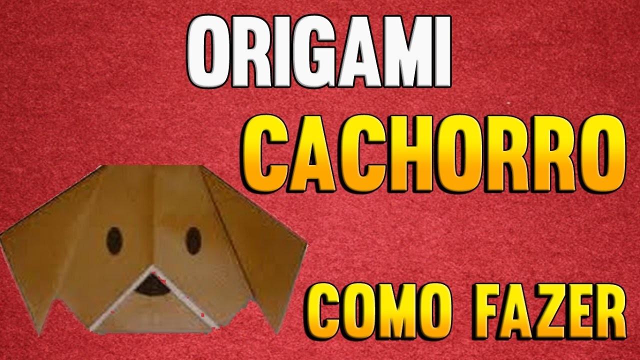 Como Fazer uma Cabeça de CACHORRO de Origami - Passo a Passo - Paper Folding PUPPIES