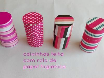 DIY CAIXINHAS FEITAS COM ROLINHO DE PAPEL Higiênico