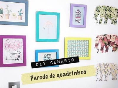 DIY: Cenário - Parede com Quadrinhos | por Thalita Piacentini