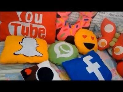 DIY -  Como fazer almofadas de feltro, Facebook ,Youtube, whatsap.