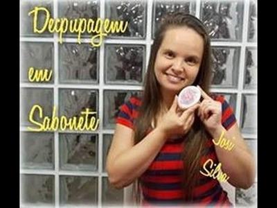 DIY - Como fazer decoupagem em sabonete. Cómo decoupage en el jabón