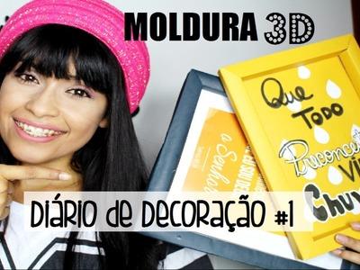 DIY: COMO FAZER MOLDURA DE QUADRO com Papel Cartão para Decorar Quarto Estilo Tumblr#1