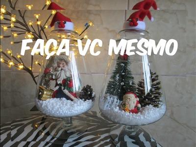 DIY Decoração de Natal em Potes de Vidro - Faça você mesmo