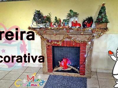 DIY. LAREIRA DECORATIVA SUPER BARATA, primeira parte (RECICLAGEM)