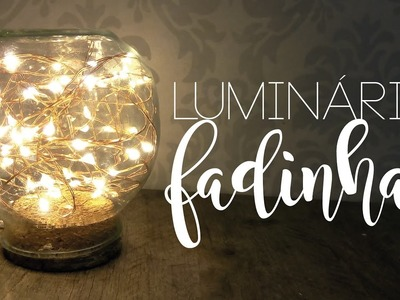 DIY Luminária cordão de luz | Pricilla Calaça