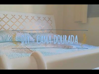 DIY - Reforma cama de madeira com stencil