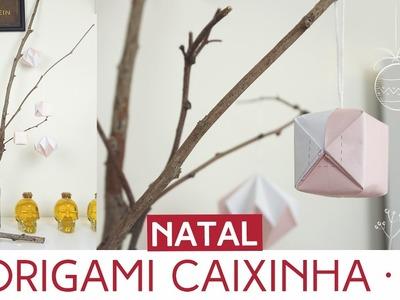 Enfeite de Natal - Origami Caixinha | Natal by Aline Albino