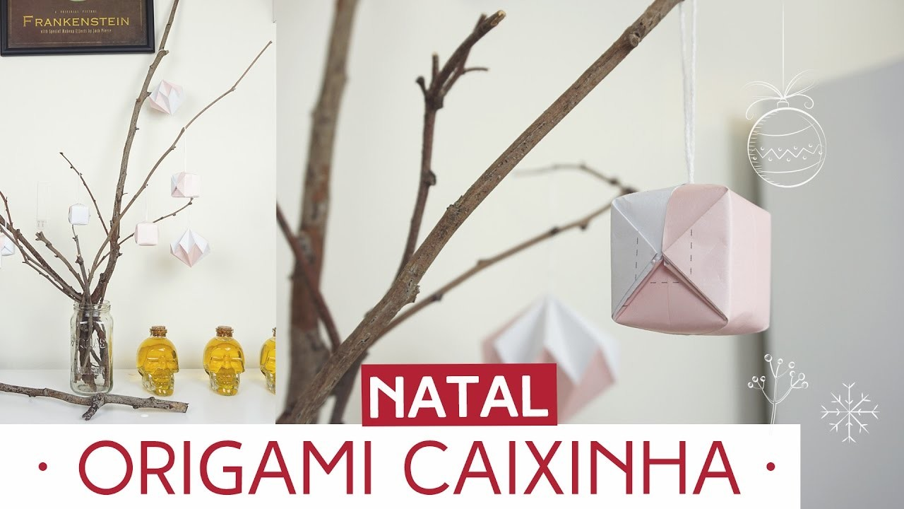 Enfeite de Natal - Origami Caixinha   Natal by Aline Albino