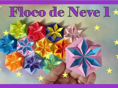 FLOCO DE NEVE DE ORIGAMI - SNOWFLAKE 1