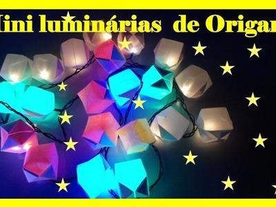 MINI LUMINÁRIAS DE ORIGAMI PARA FESTAS