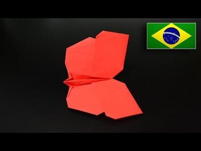 Origami: Borboleta V2 (Jo Nakashima) - Instruções em Português PT-BR