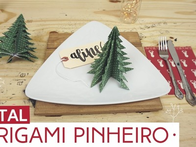 Origami para decorar sua mesa de Natal | Natal by Aline Albino