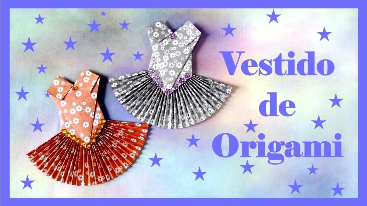 Origami vestido plissado de origami vestido de bal - Origami para todos ...
