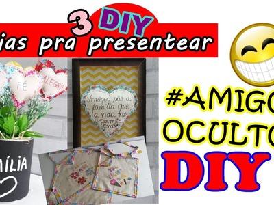 3 DIY INCRIVEIS PARA PRESENTEAR #AMIGO OCULTO DIY