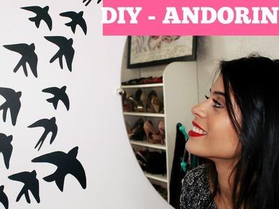 DIY: Andorinhas SUPER FÁCEIS para decorar! #ThayTodoDia