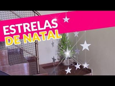 Diy - Enfeite e decoração de Natal - Cortina de Estrelas por Patrícia Braga