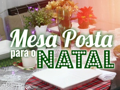 DIY **MESA POSTA PARA A NOITE DE NATAL** por Babi Costa