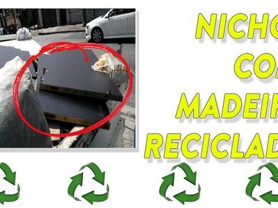 Diy nicho com material reciclado