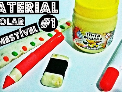 D.I.Y: 5 Dicas de Material Escolar Comestível #1 | D.I.Y Edible School Supplies