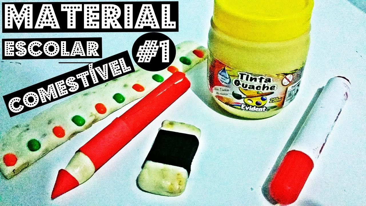 D.I.Y: 5 Dicas de Material Escolar Comestível #1   D.I.Y Edible School Supplies