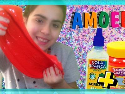 DIY: AMOEBA com MATERIAL ESCOLAR como fazer! Use apenas Cola e Guache será que dá certo?
